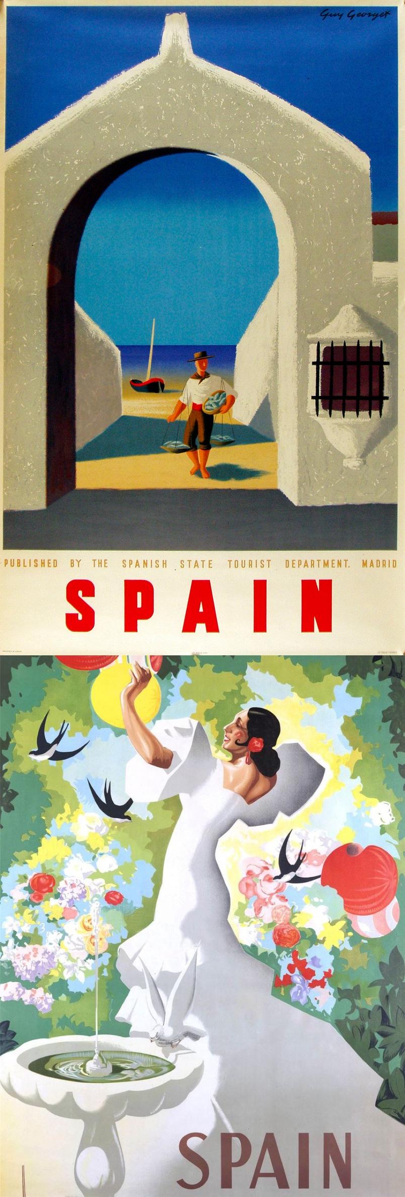 Art Deco Travel Posters Lovely Vintage Retro Holiday Tourism *Unique* Madrid